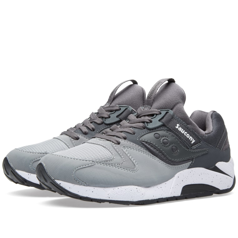 Saucony Men's Charcoal Grid 9000 Sneakers grey Sells In All Years