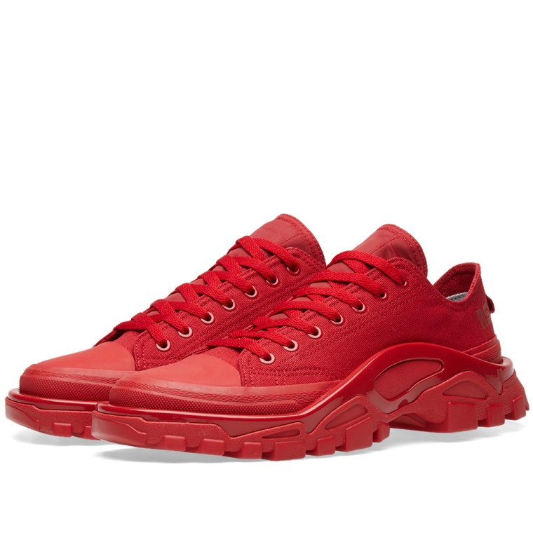 Detroit Runner in Red adidas by Raf Simons