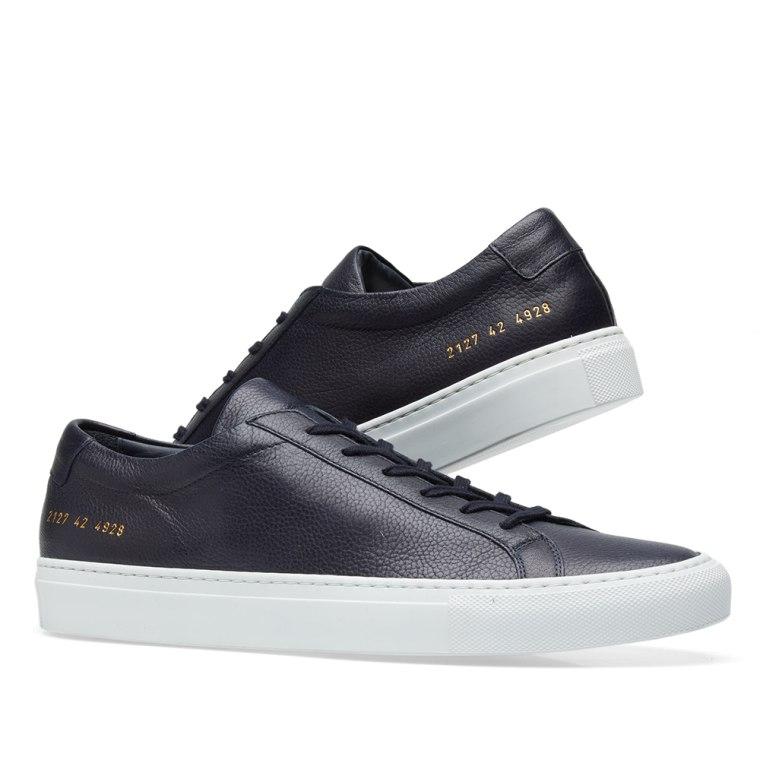 COMMON PROJECTS Navy & Original Achilles Low Premium Sneakers