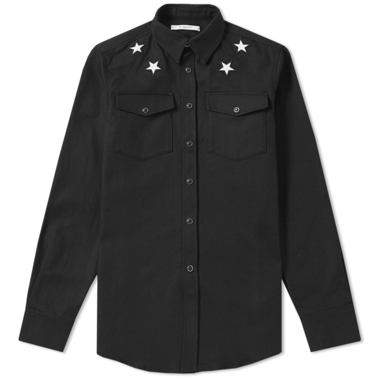 Well-liked Givenchy Star Detail Denim Shirt (Black) | END. QO79