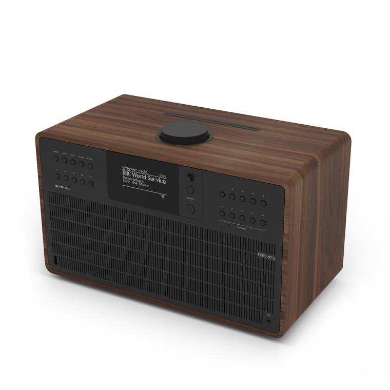 revo super cd multi system dab radio bluetooth walnut. Black Bedroom Furniture Sets. Home Design Ideas