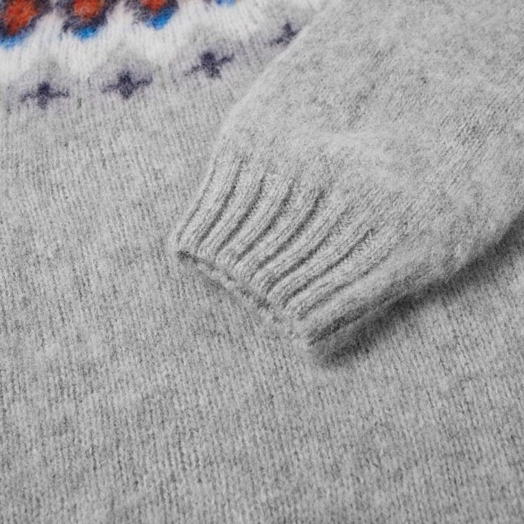 Norse Projects Birnir Fair Isle Crew Knit (Kit White) | END.