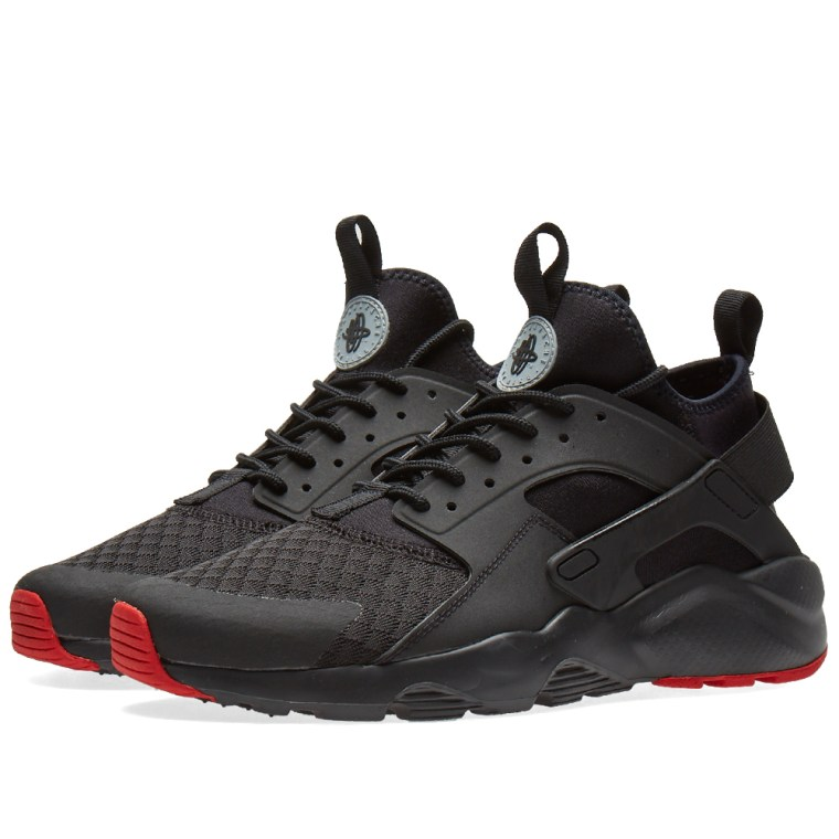 Nike Air Huarache Red Black Running Shoes