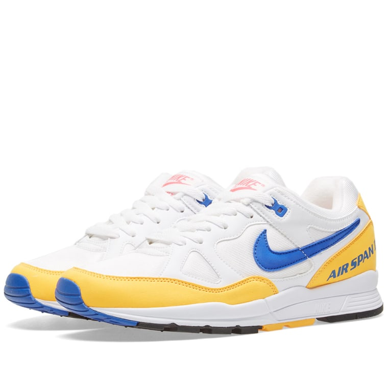 Nike Sportswear  Air Span II White/Hyper Royal/Orange {Ah8047-103} Men