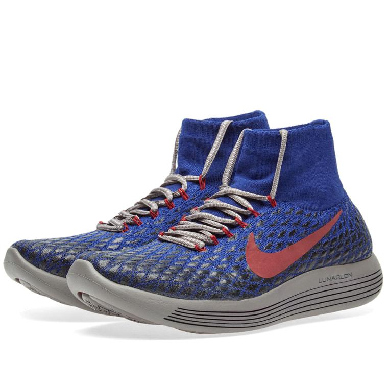 Nike NIKELAB Lunarepic FK Shield GYAKUSOU Deep Blue Black 859891-400 Size 10.5