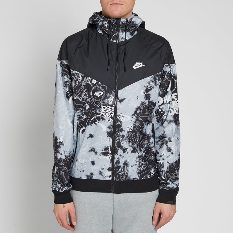 Nike tie dye windrunner wolf grey black white end for Nike tie dye shirt and shorts