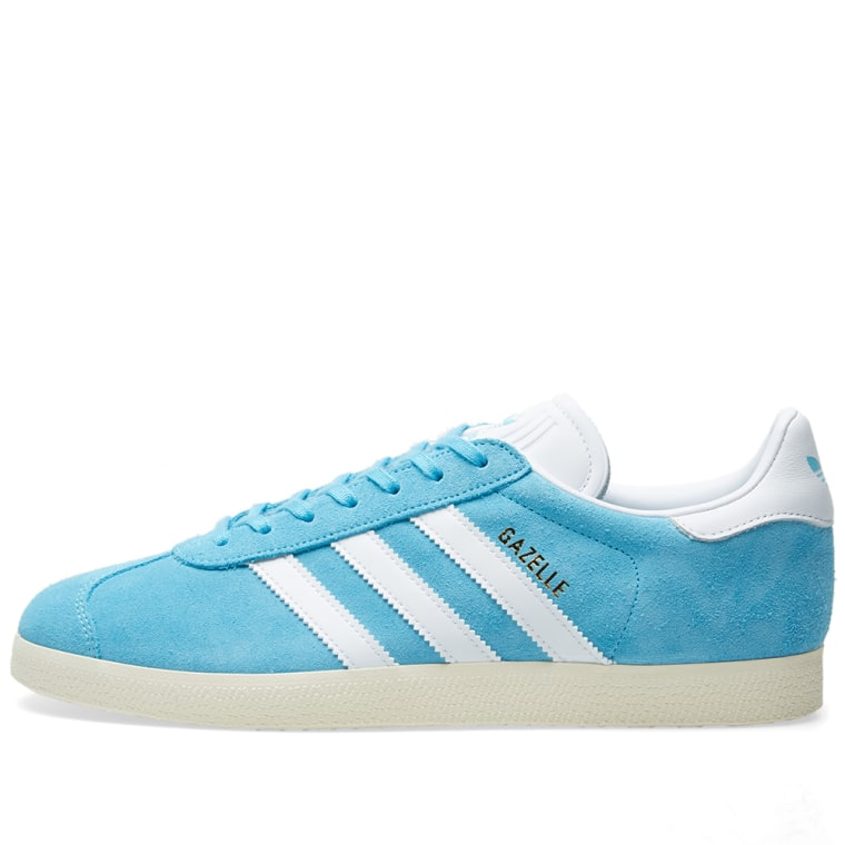 adidas gazelle bright cyan white cream end. Black Bedroom Furniture Sets. Home Design Ideas