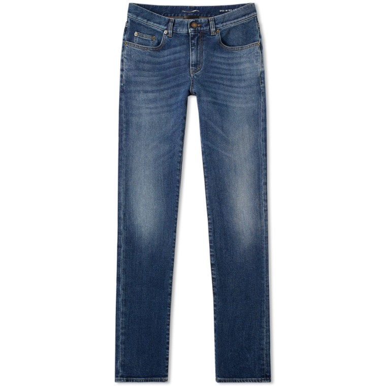 Jeans On Sale, Denim Medium Blue, Cotton, 2017, 30 31 32 Saint Laurent