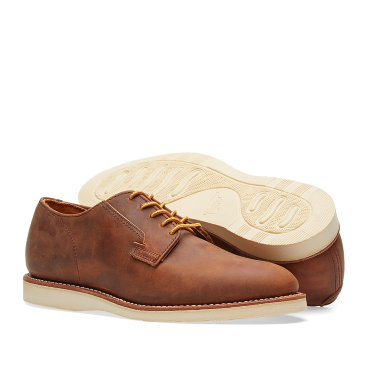 Red Wing Mens Postman Oxford 3118 Copper Leather Shoes 42 EU