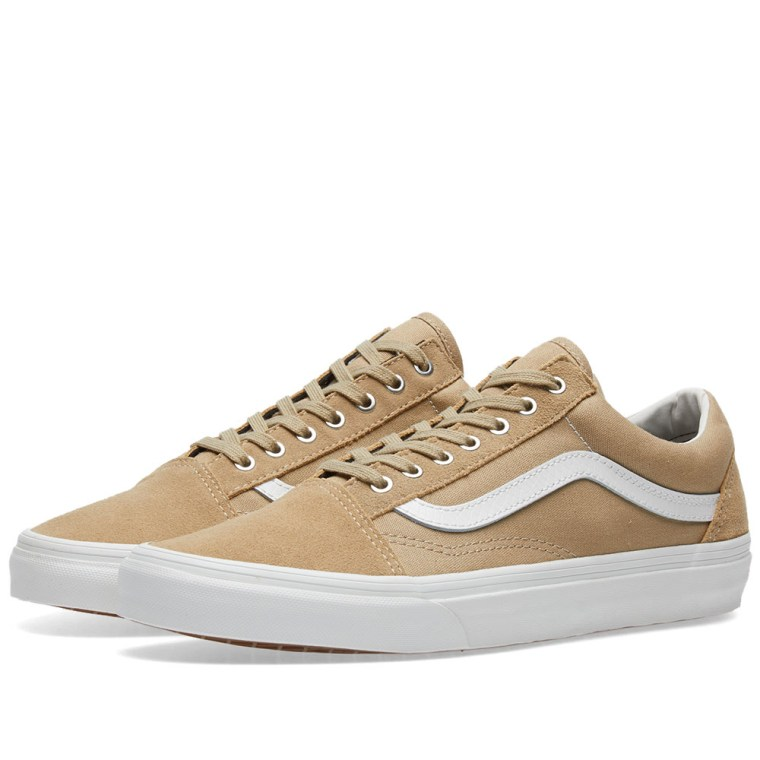 vans old skool khaki blanc snake end. Black Bedroom Furniture Sets. Home Design Ideas