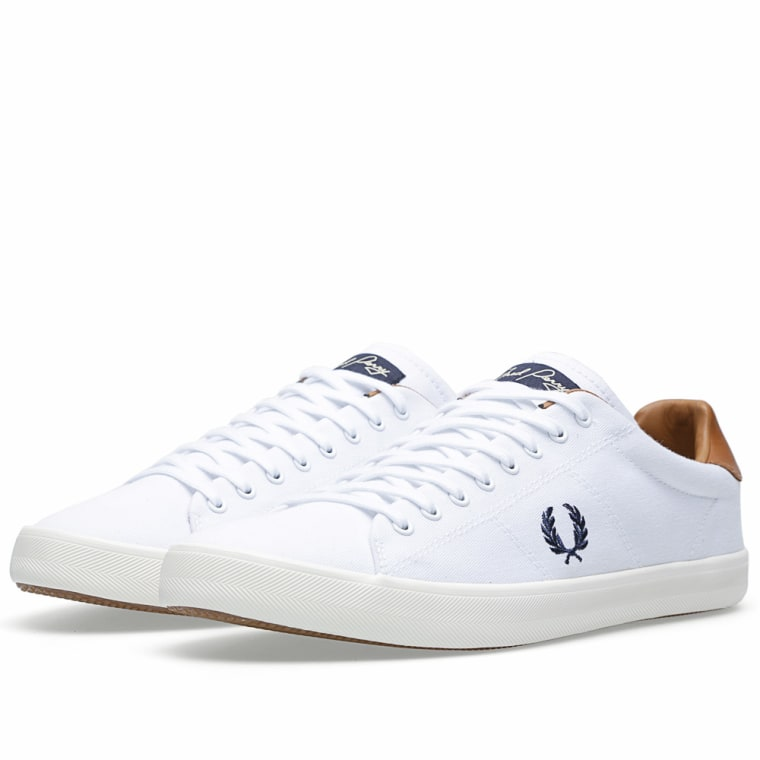 Good-Looking White Fred Perry Men Mens Howells Twill Plimsolls