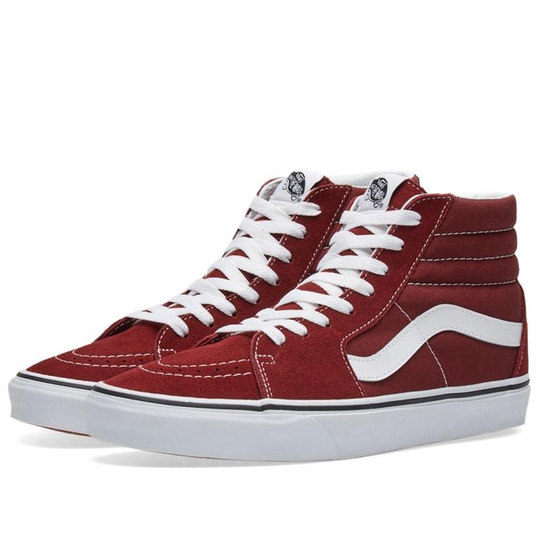 Discount Vans SK8-Hi Madder Brown Sneakers for Men On Sale