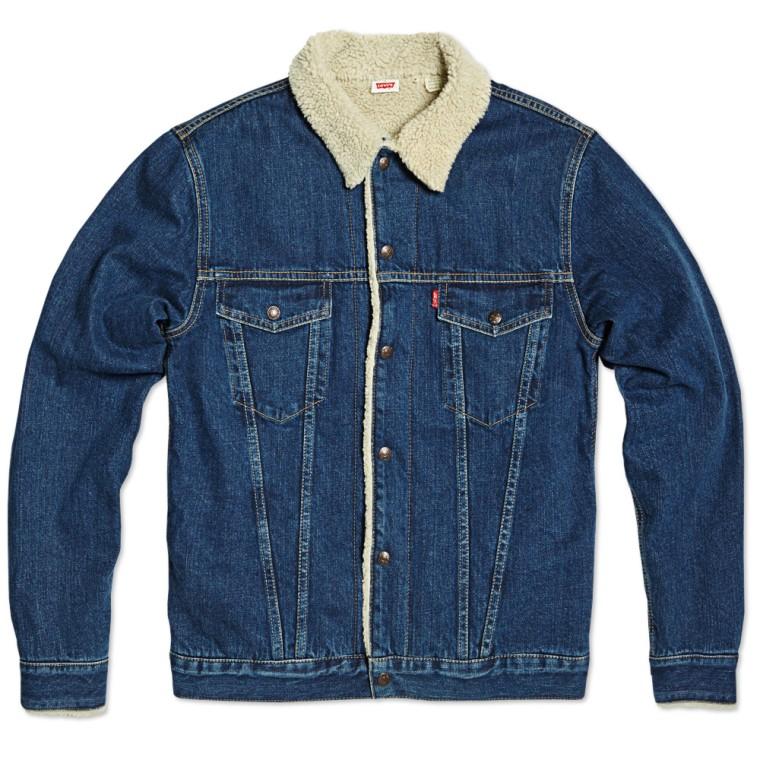 levi 39 s vintage 1970s sherpa lined trucker jacket rinse indigo end. Black Bedroom Furniture Sets. Home Design Ideas