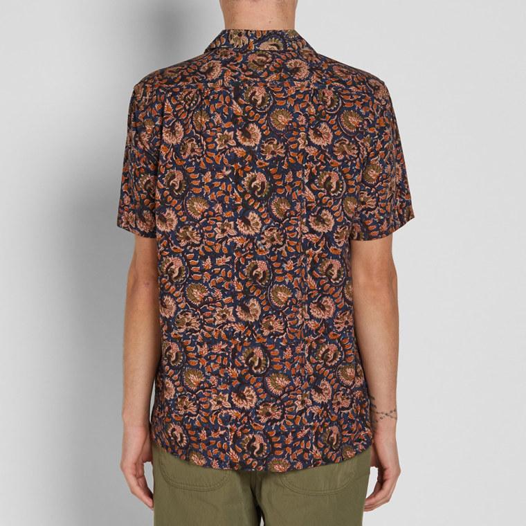 Beams Plus Batik Print Shirt (Navy)