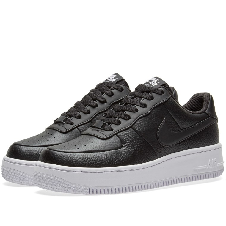 Nike Air Force 1 Upstep W Black  White 1