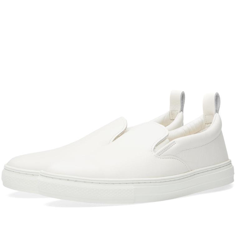 Buddy G S Slip On White Leather
