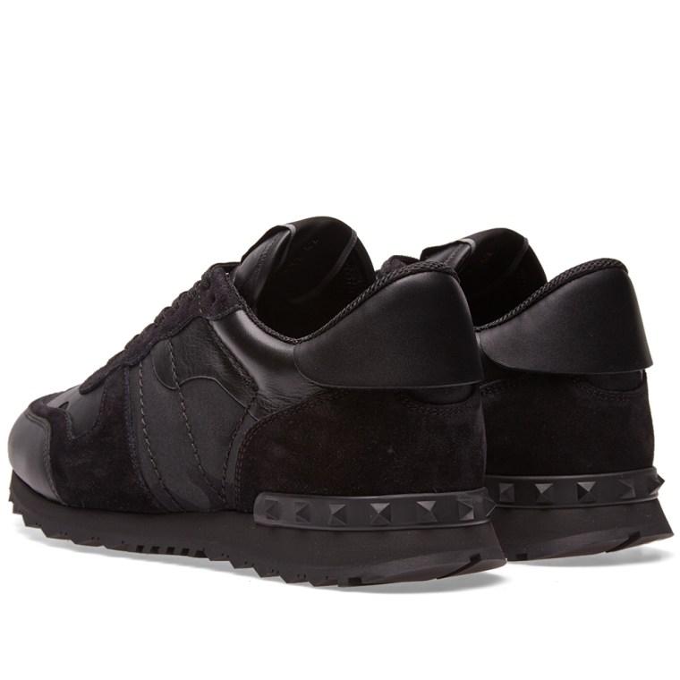 3926b4538aafb3 Valentino Black Camo Rockrunner Sneakers