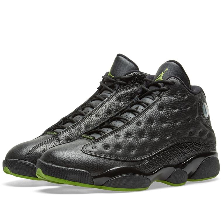 more photos 79711 12c8c 110.00  Nike Air Jordan 13 Retro OG Black Altitude Green ...