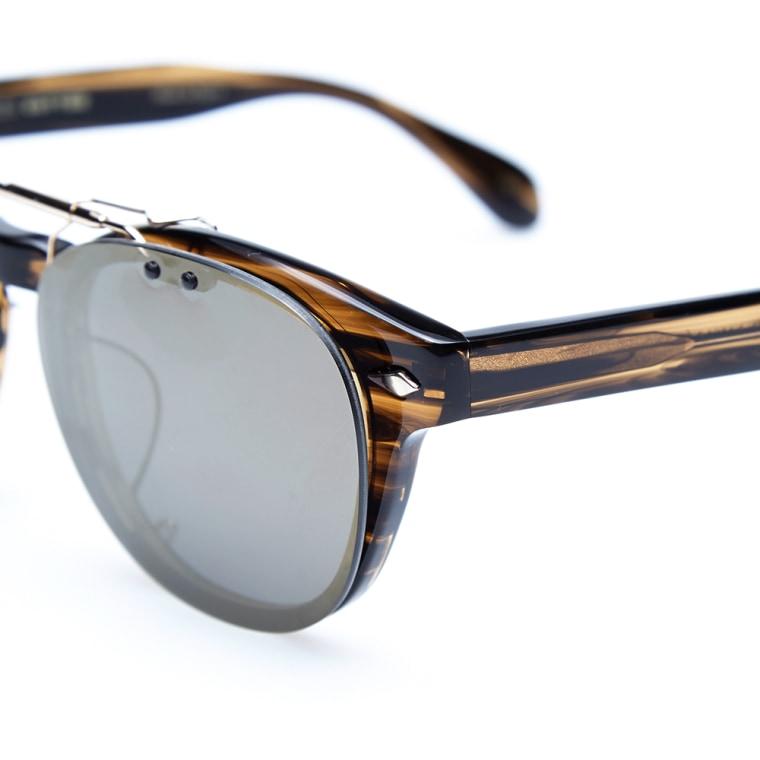 Maison kitsun x oliver peoples tokyo clip sunglasses for Oliver peoples tokyo