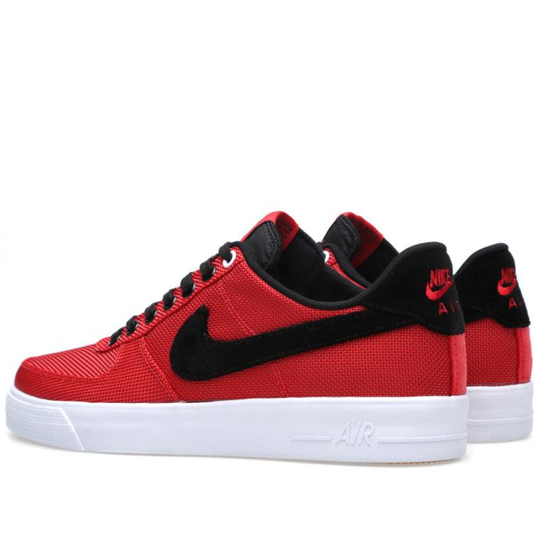 online store ff30b 4f296 ... Herr Svarta Vita JNzs08I7 Köpa Autentiska,nike Nike Air Force 1 AC PRM  QS Nylon University Red Black . ...