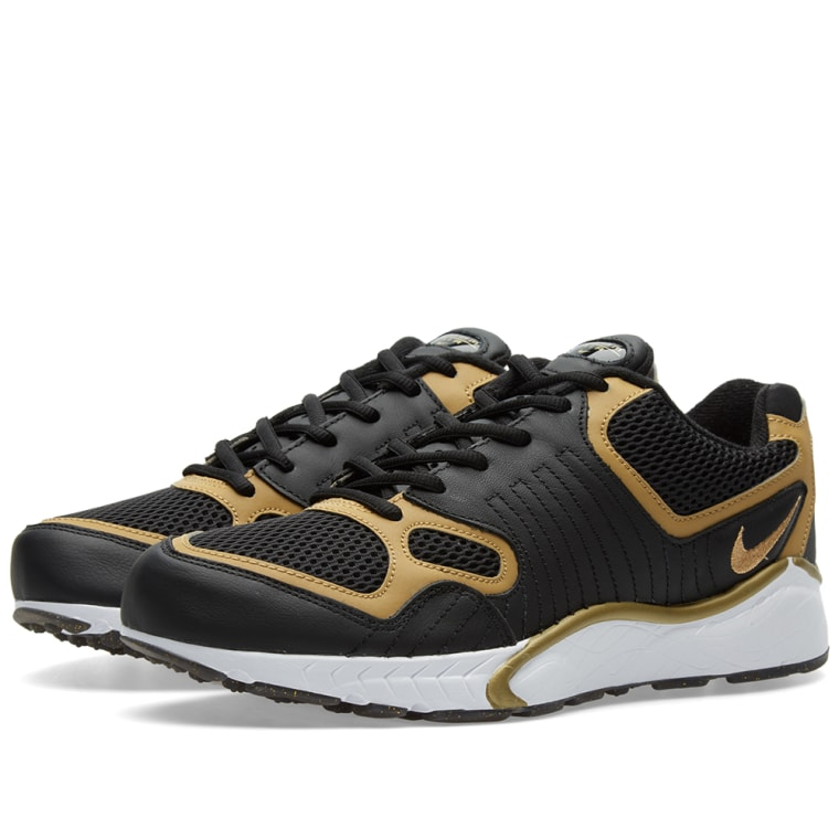 Nike Mens Zoom Talaria 16 BlackMetallic Gold Leather  JDMOQXFGC