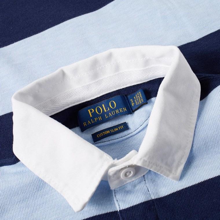Polo Ralph Lauren Stripe Rugby Shirt French Navy Elite Blue 4