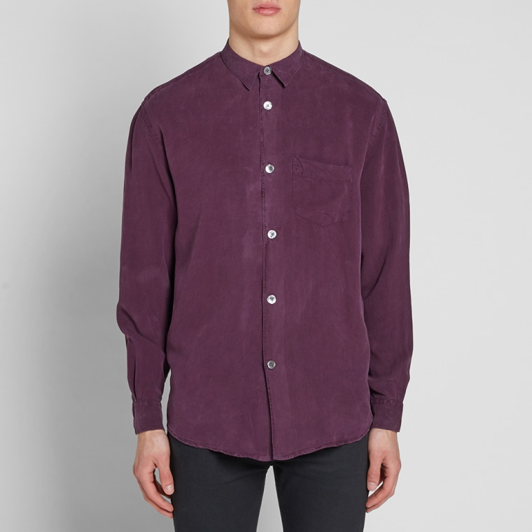 Our Legacy Initial Shirt (Purple Fine Silk)