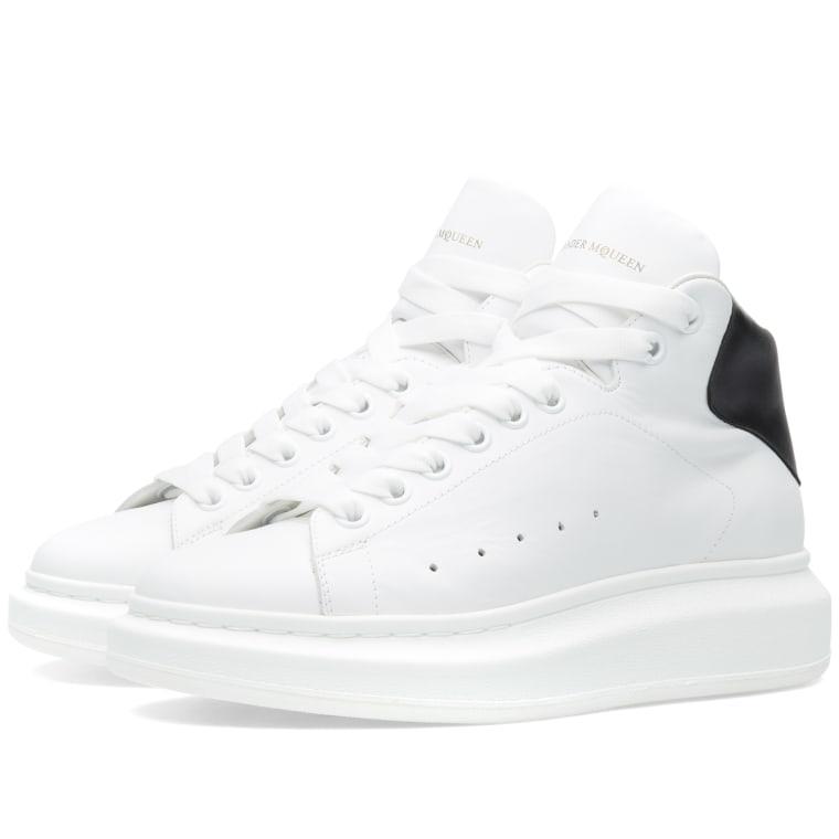 high top oversized sneakers - White Alexander McQueen