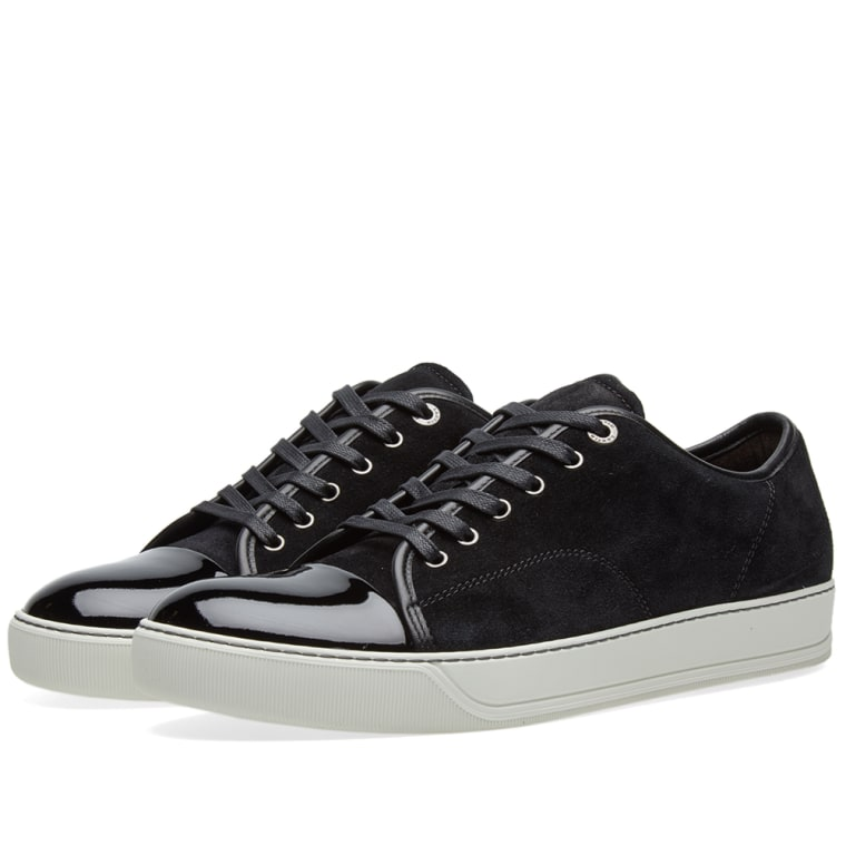 Sneakers for Men On Sale, Black, Suede leather, 2017, 5 Lanvin