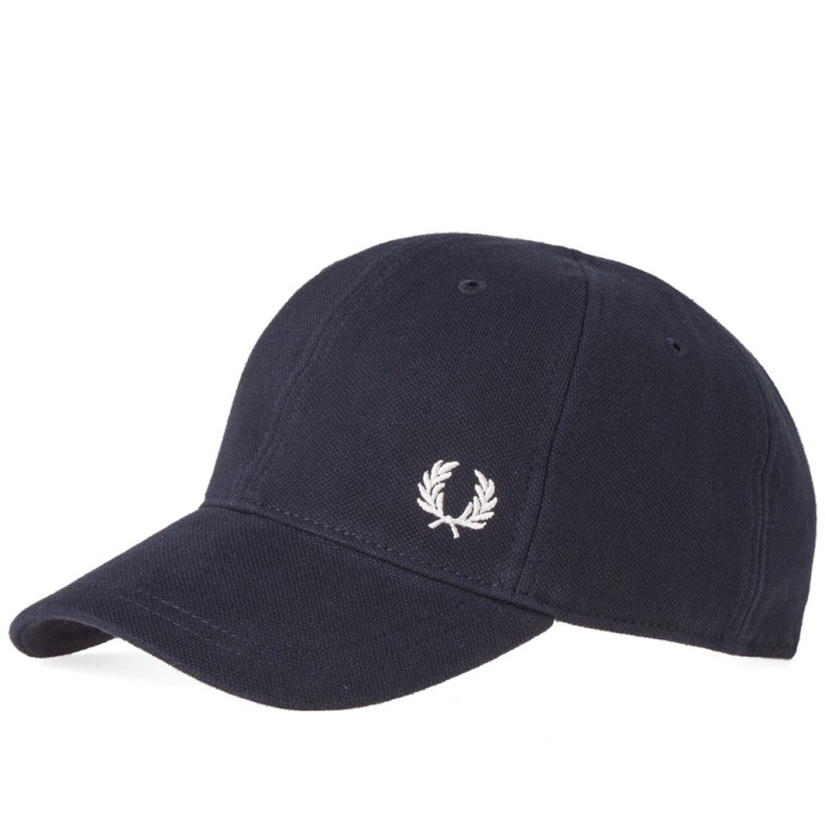 Pique Cap in Navy - 608 Fred Perry