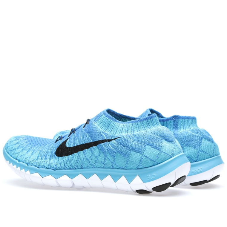 nike free 30 flyknit photo blue amp black end