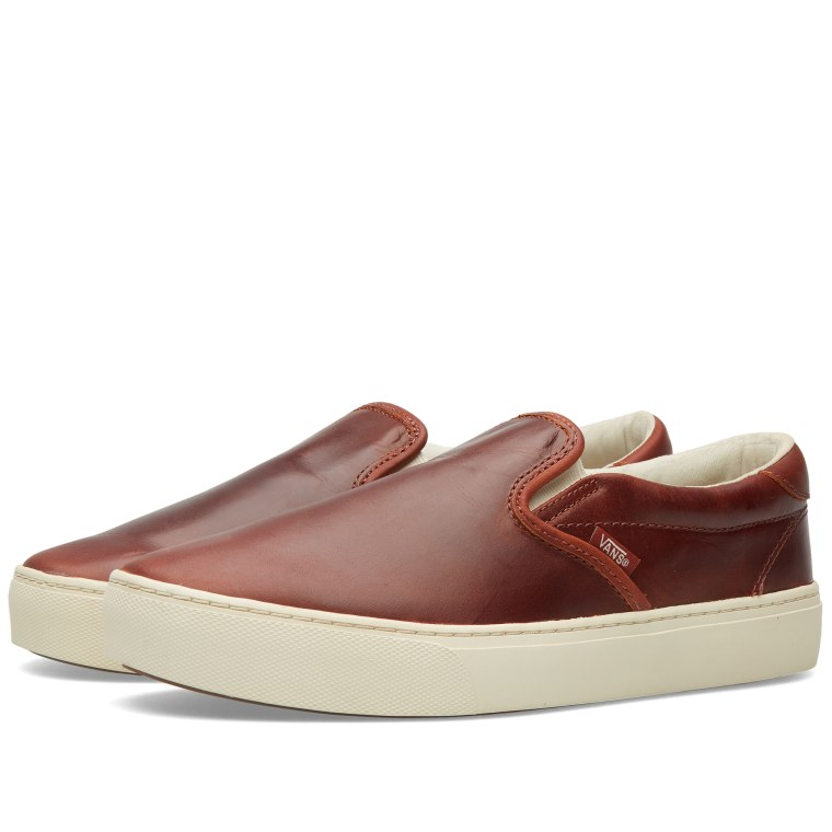 Vans SLIPON CUP CA henna California Collection leather henna CA turtledove 208236