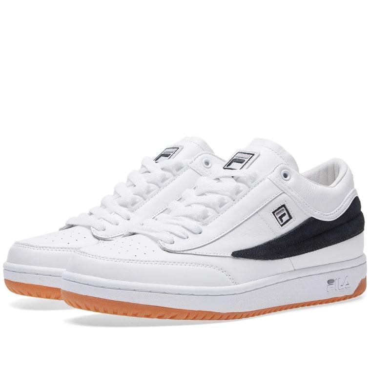Gosha Rubchinskiy x FILA T-1 Sneaker (White & Black) | END.