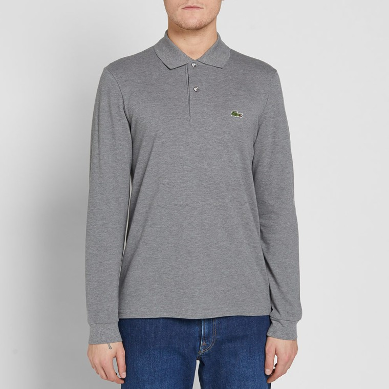 51aa245e8 lacoste grey long sleeve polo sale   OFF53% Discounts