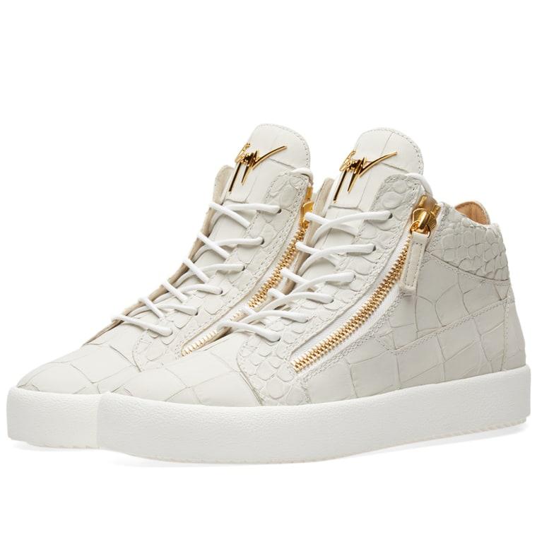 zipped mid top sneakers - White Giuseppe Zanotti