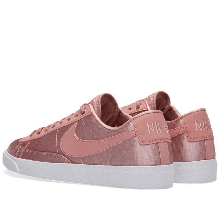 nike blazer low se w rust pink white