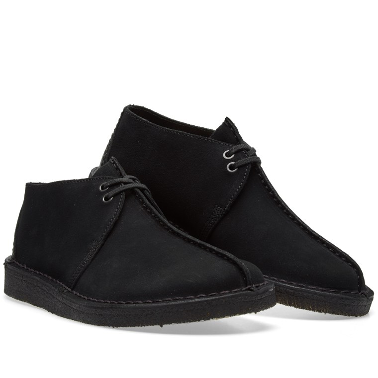 clarks originals desert trek black