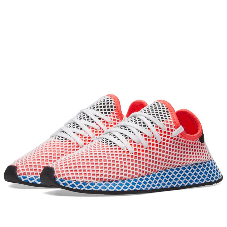 Adidas Deerupt Runner  Solar Red & Bluebird  1