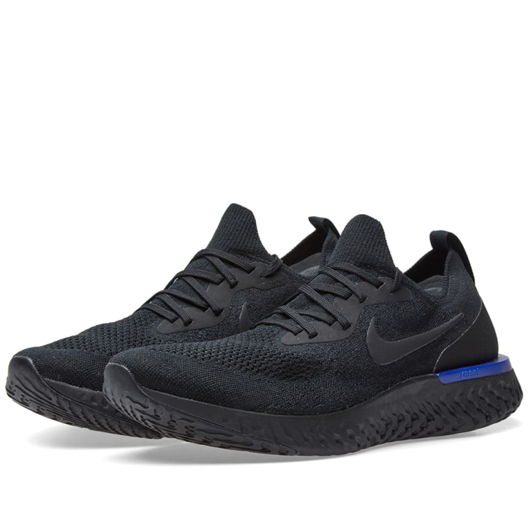 bd0804137c7e nike epic react flyknit  nike epic react flyknit black racer blue 1