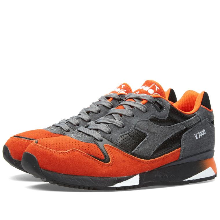 diadora v 7000 ita castle rock dark orange 1