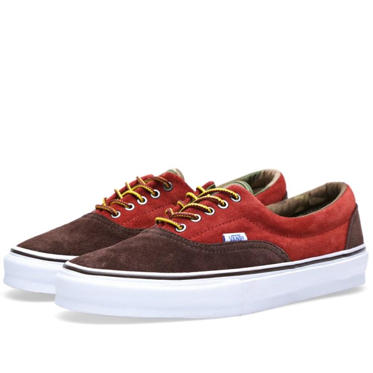 13f22ffb60 Vans Vault Era LX Suede (Chocolate Brown   Burnt Henna)