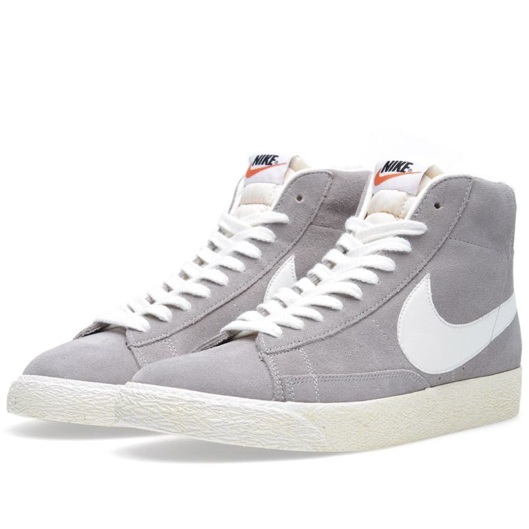 Nike Blazer Mid PRM Medium Grey  Sail 1