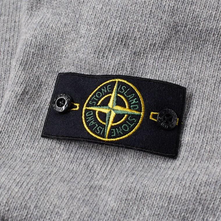Stone Island Lambswool Crew Knit  Pearl Grey  3