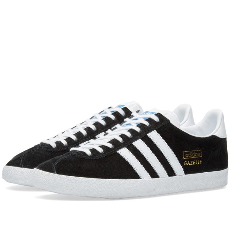 adidas gazelle og black white metallic gold 1