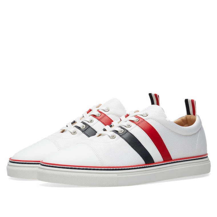 striped sneakers - White Thom Browne