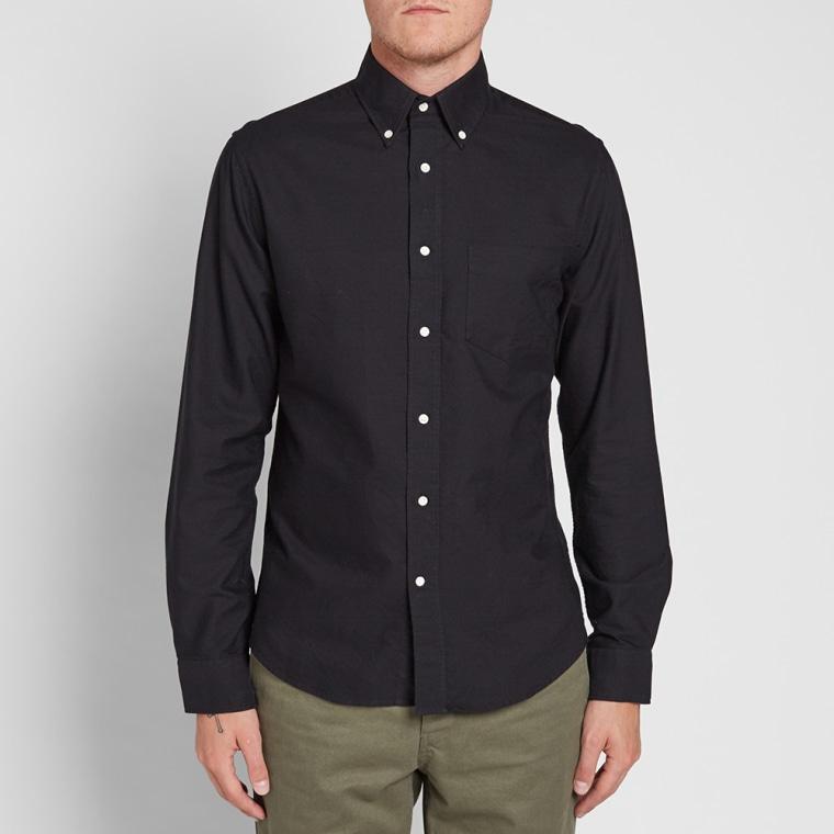 Gant rugger classic button down oxford shirt black end for Black oxford button down shirt
