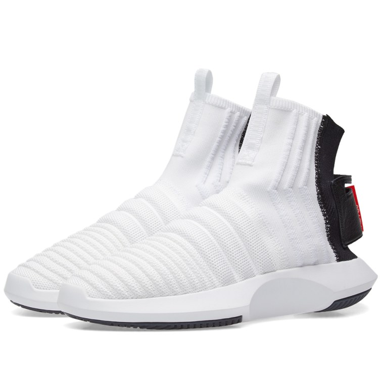 reputable site fda19 3f650 black crazy 1 adv primeknit trainers adidas crazy 1 adv sock pk white