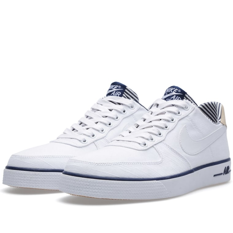 Men's Nike Air Force 1 AC PRM QS White Midnight Navy Sneakers : J72j2820