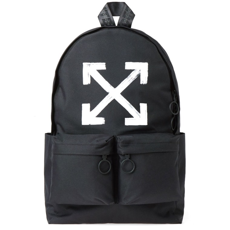 Canvas backpack Off-white