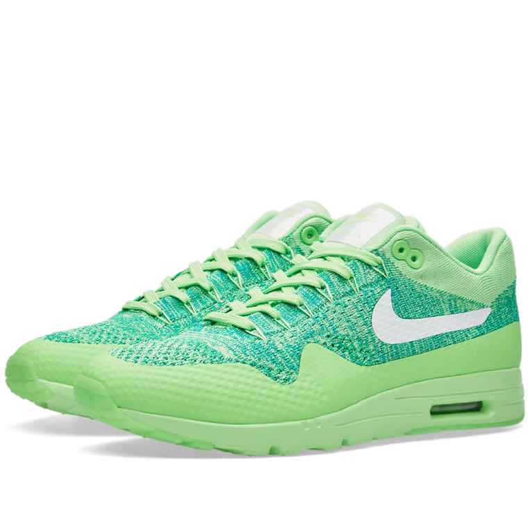 Nike WMNS Air Max 1 Ultra Flyknit women lifestyle sneakers NEW voltage green